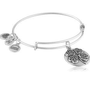 Alex and Ani Four Leaf Clover III Bangle Bracelet